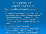 ftc decision on google doubleclick