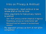 intro on privacy antitrust