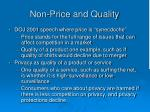 non price and quality