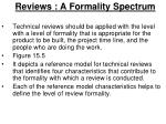 reviews a formality spectrum