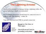 the lightning arrestor