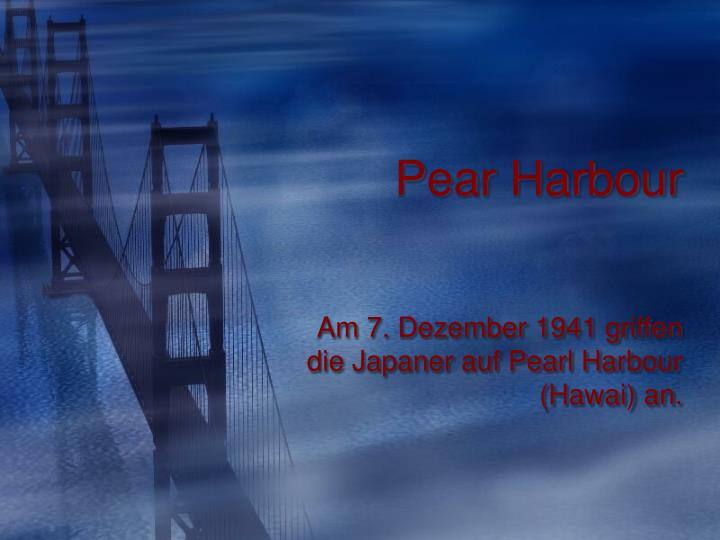 pear harbour n.