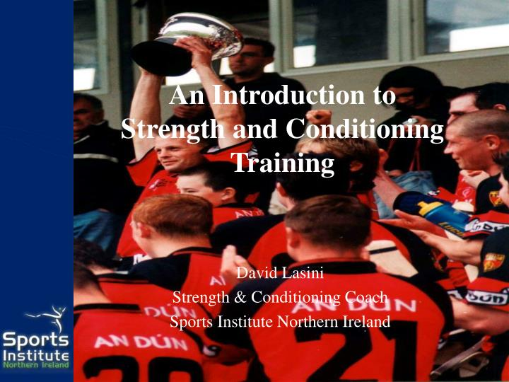 an introduction to strength and conditioning training n.