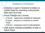 analytics in forensics