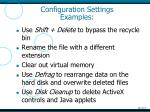 configuration settings examples