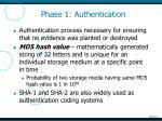 phase 1 authentication