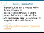 phase 1 preservation