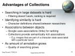 advantages of collections