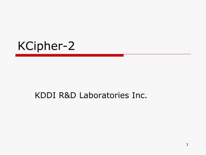 kcipher 2 n.