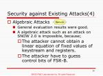 security against existing attacks 4
