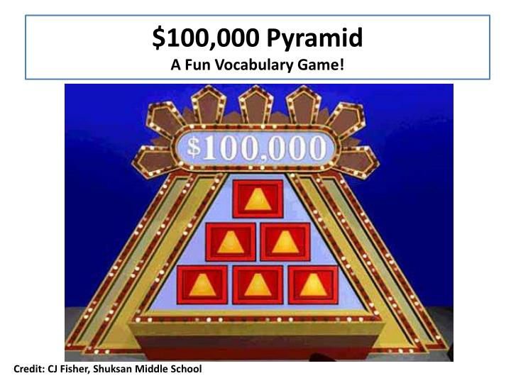 100 000 pyramid a f un vocabulary g ame n.