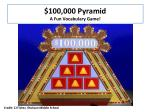 100 000 pyramid a f un vocabulary g ame