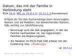 datum das mit der familie in verbindung steht rda 10 4 erl zu 10 4 1 3 10 11 1 3 kernelement