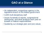 gao at a glance