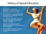 history of sexual education