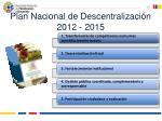 plan nacional de descentralizaci n 2012 2015