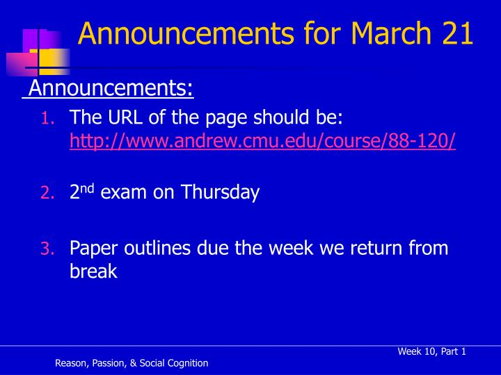 announcements for march 21 n.