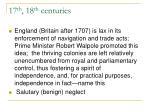 17 th 18 th centuries