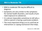 mild to moderate tbi