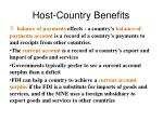 host country benefits1