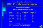 critical control points critical limits ccp 1 manure generation2