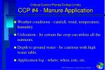 critical control points critical limits ccp 4 manure application1