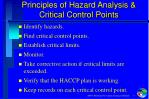 principles of hazard analysis critical control points
