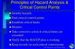 principles of hazard analysis critical control points