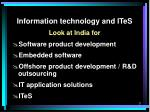 information technology and ites1