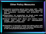 other policy measures