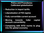 policy and procedures calibrated globalization