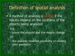definition of spatial analysis