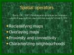 spatial operators