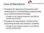 case of macedonia