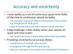 accuracy and uncertainty