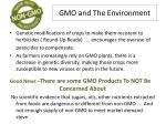 gmo and the environment