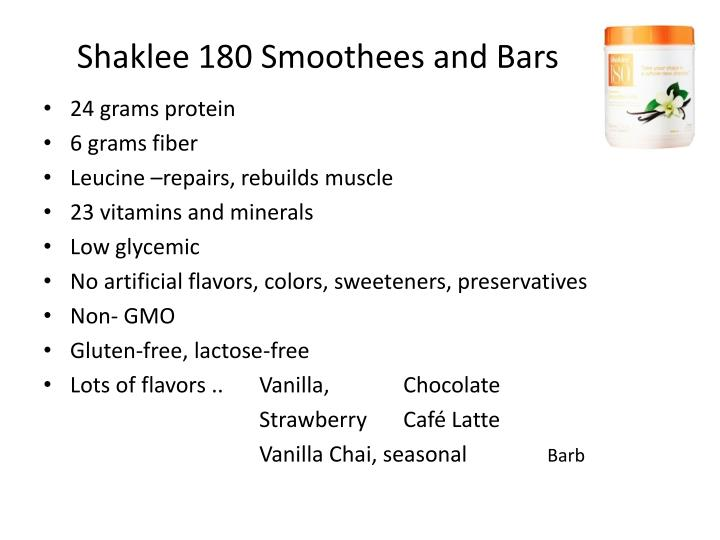 Shaklee 180 Smoothees and Bars