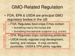 gmo related regulation