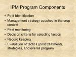 ipm program components