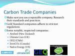 carbon trade companies