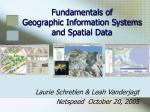 fundamentals of geographic information systems and spatial data
