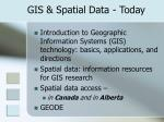 gis spatial data today