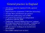 general practice in england