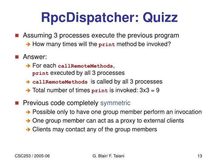RpcDispatcher: Quizz