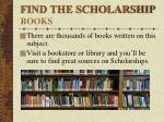 find the scholarship books
