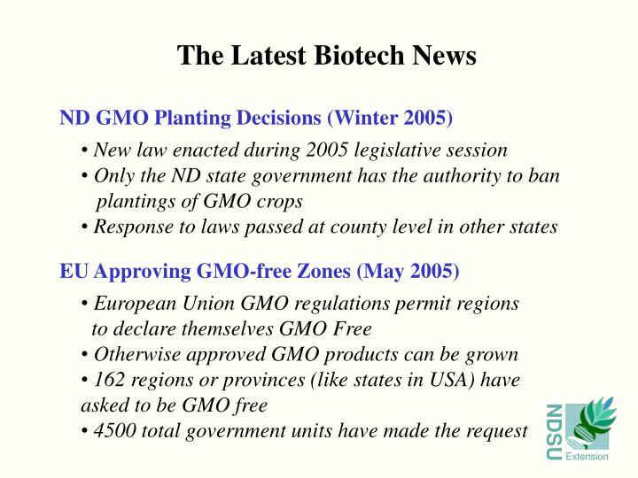 The Latest Biotech News