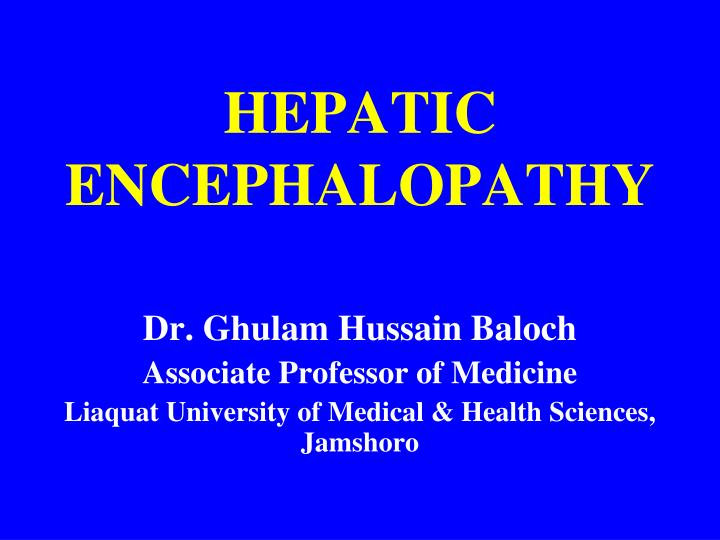 hepatic encephalopathy n.