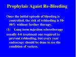 prophylais agaist re bleeding