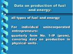 data on production of fuel and energy2