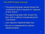 the lgcpa process continued